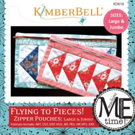 KIMBERBELL CD - Flying to Pieces Zipper Pouches Large and Jumbo