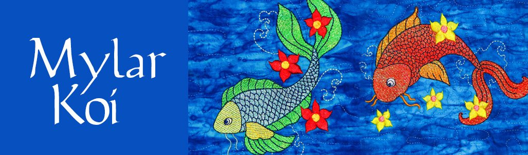Mylar Koi Embroidery Designs