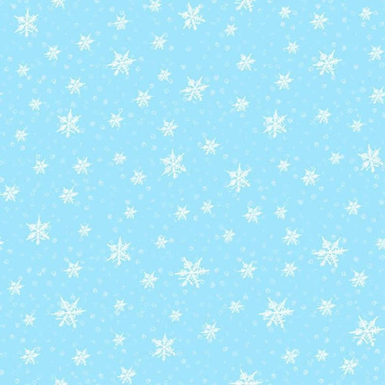 Gnoming Through the Snow - Blue Snowflake B1101