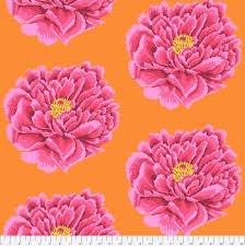 Full Bloom Pink 108 Cotton Sateen Chintz QBGP004.2PINK Kaffe Fassett