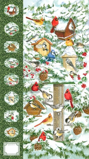 Winter Birds 21262-72 panel