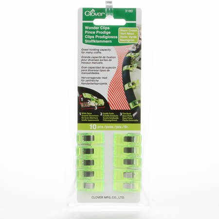Wonder Clips Neon Green 10ct