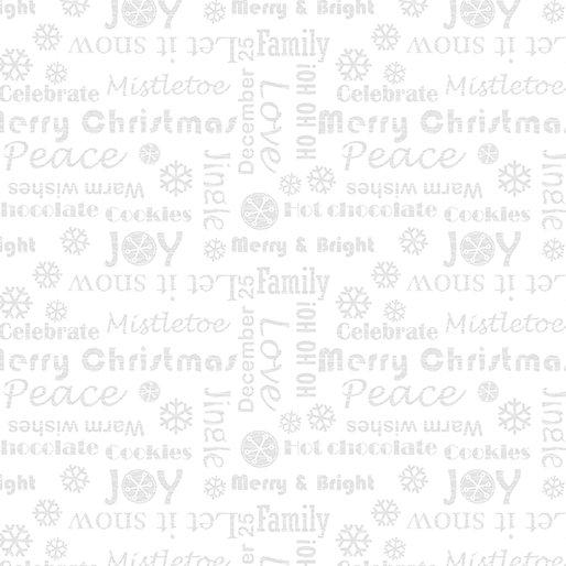 Let it Snow 4587-09 white words