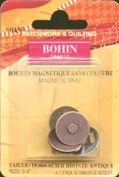 Magnetic Snap Bronze-3/4in