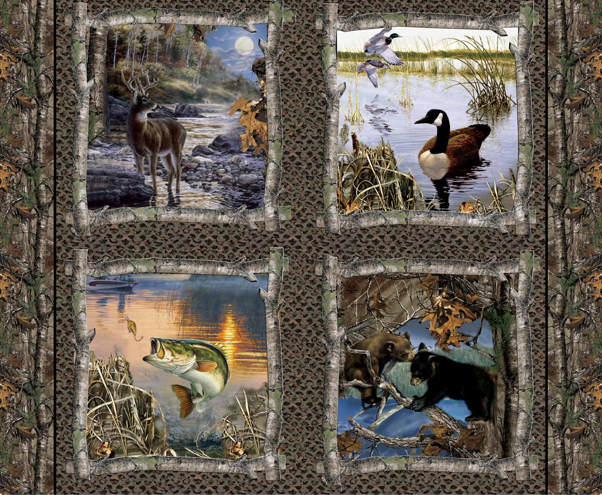 RealTree from Print Concepts : wildlife quilt fabric - Adamdwight.com
