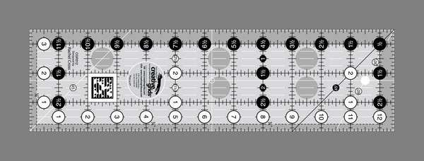 Creative Grids Quilting Ruler - 3 1/2in x 12 1/2in