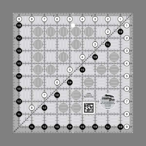Creative Grids Quilting Ruler - 9 1/2in Square