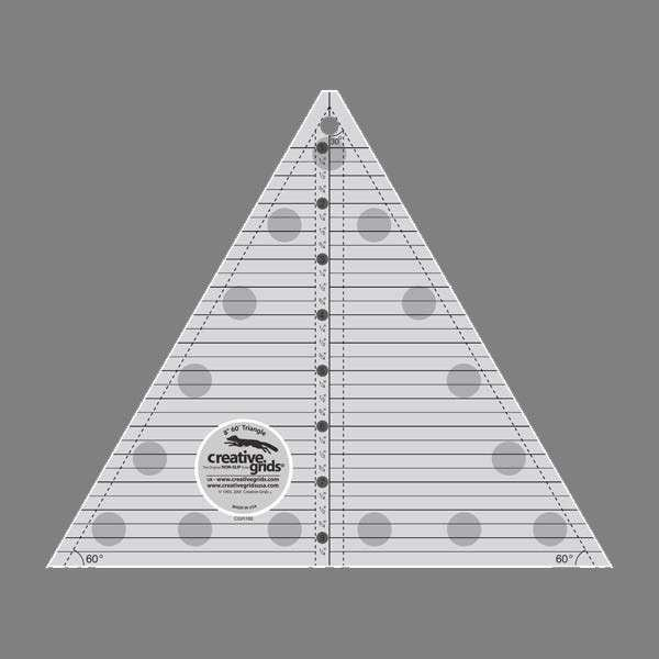 Creative Grids Ruler - 60 degree Triangle 8-1/2in