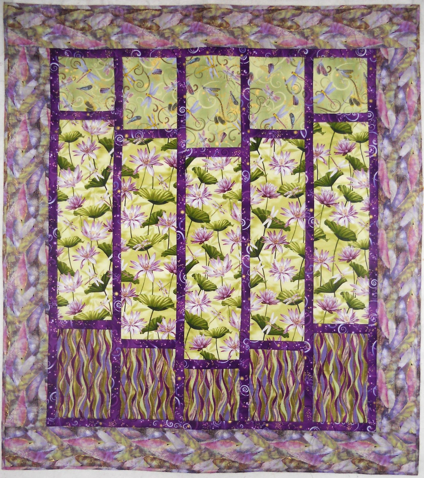 Kit- Dance of the Dragonfly : dragonfly quilt - Adamdwight.com