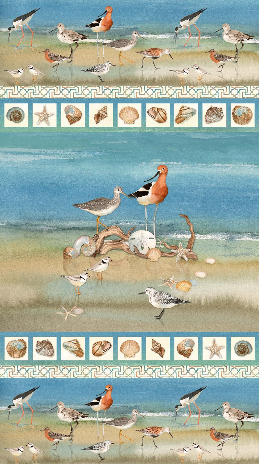 Shore Thing DP22068-42 birds scenic panel
