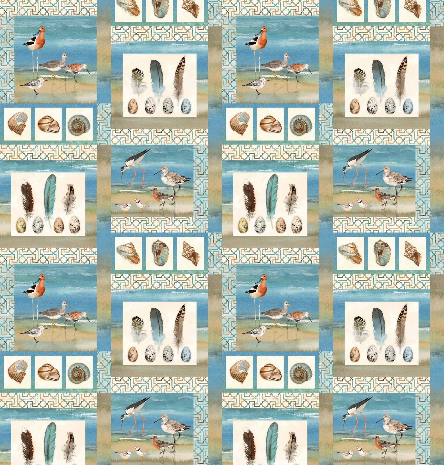 Shore Thing DP22069-42 bird squares