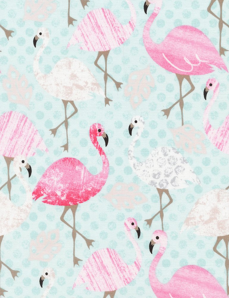 Flamingos Fun-C3813-Aqua