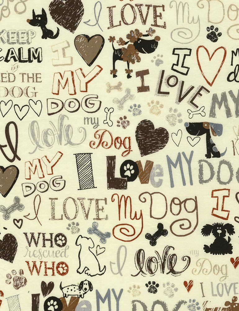 I love my dog - Gail-C5710-Cream