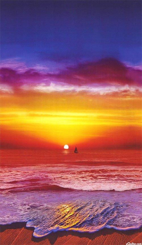 California Dreaming N4244-151-Sunset panel - 30% OFF