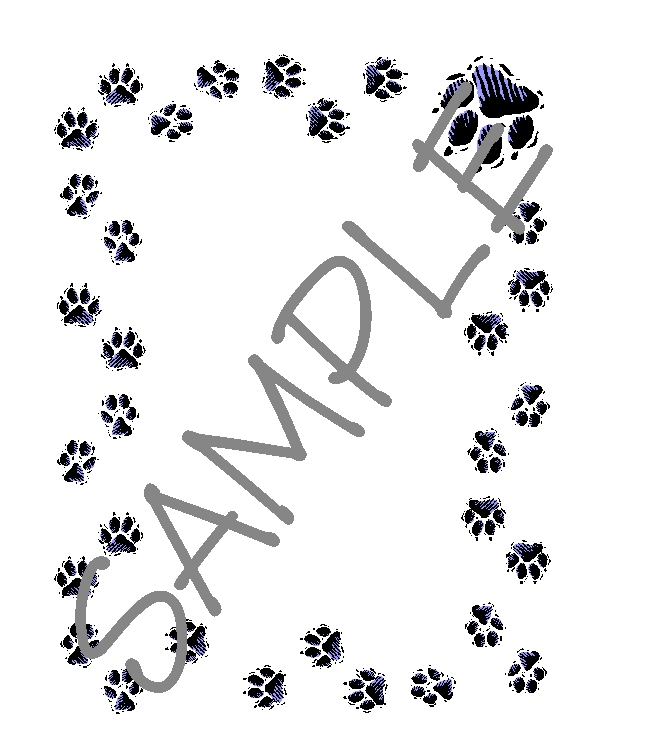 Quilt Label-paw print border