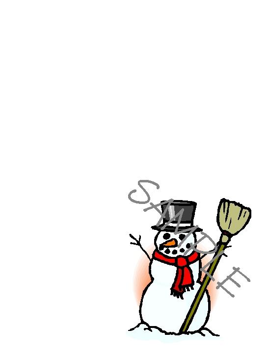 Quilt Label-snowman