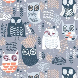 The Big Chill STELLA-578-GREY owls