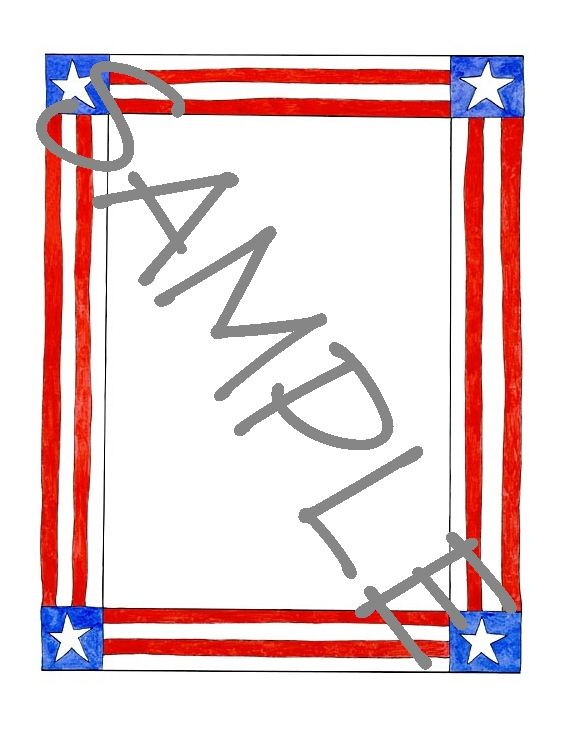 Quilt Label-stars and stripes