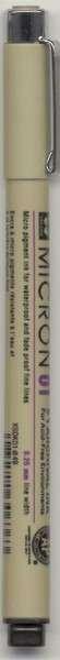 Pigma Micron Pen Black .25mm Size 01