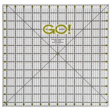 GO! Quilting Ruler-12 1/2 x12 1/2