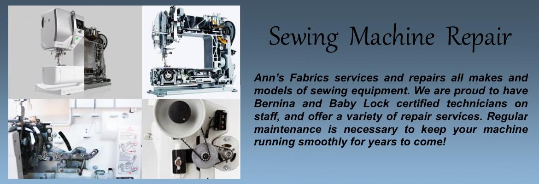 Ann's Fabrics Sewing Machine Center Canton Massachusetts Simple Local Sewing Machine Repair
