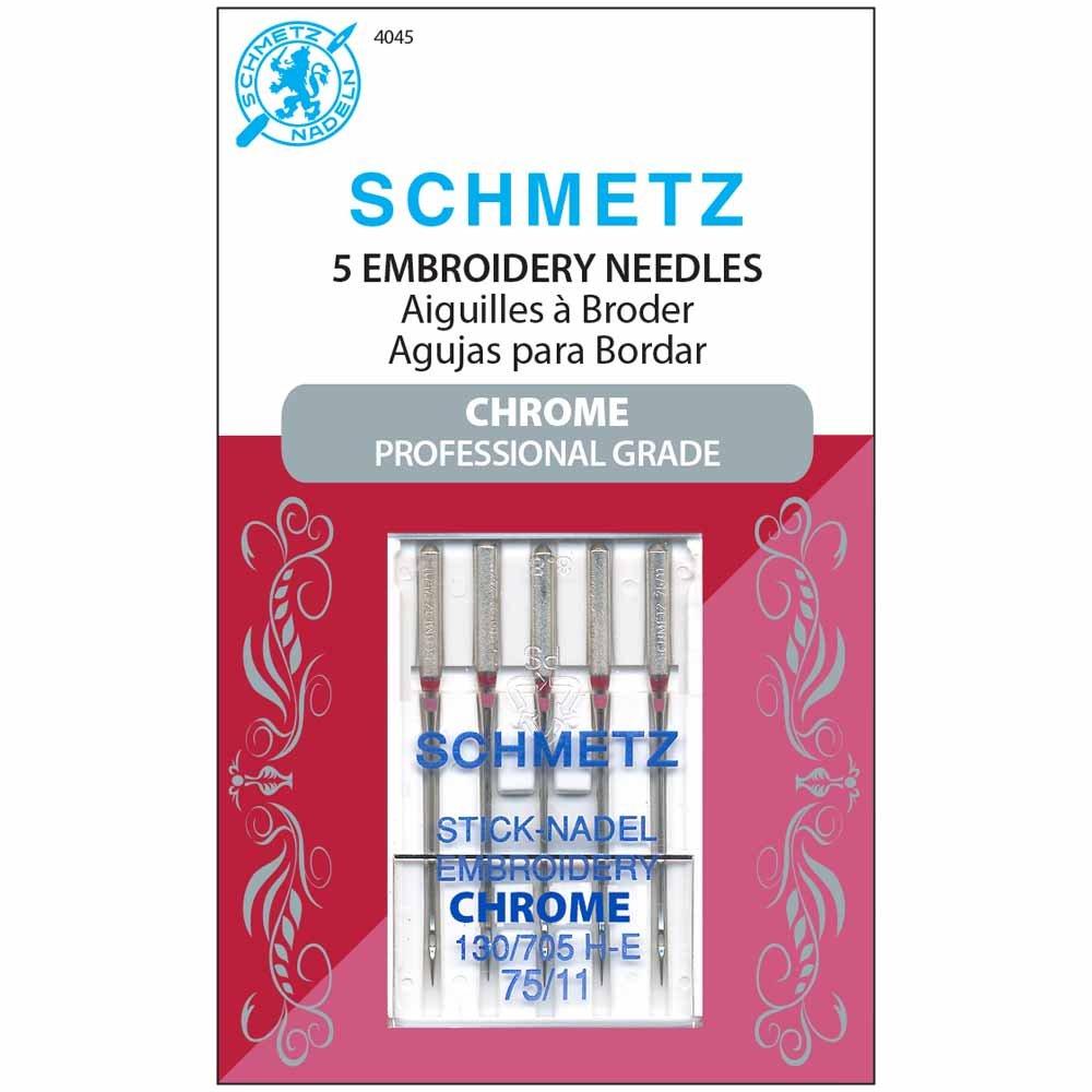 Schmetz Chrome Embroidery Needles Size 75/11