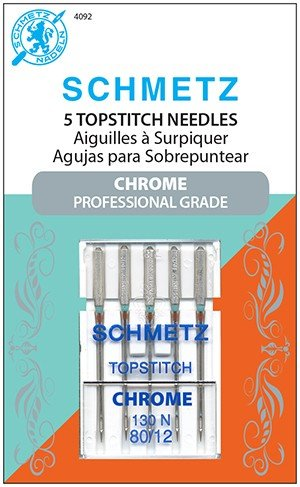 Schmetz Chrome Topstitch Machine Needles Size 80/12
