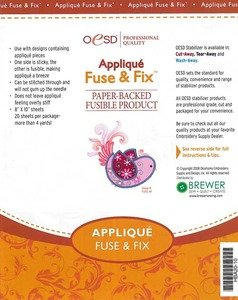 Applique Fuse & Fix Cutaway Embroidery Stabilizer