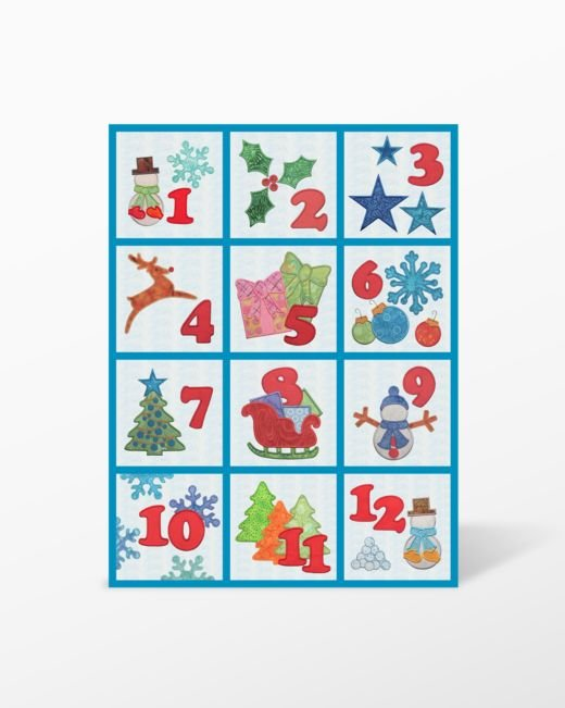GO! Winter Bliss Wall Hanging Machine Embroidery Set CD