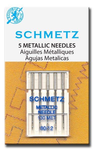 Schmetz Metallic Machine Needles Size 80/12