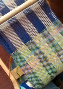 Weave a scarf in a day at The Quilt Cabin Studio in Hebden Bridge