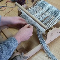 Weave a scarf in a day at The Quilt Cabin Studio in Mythomroyd