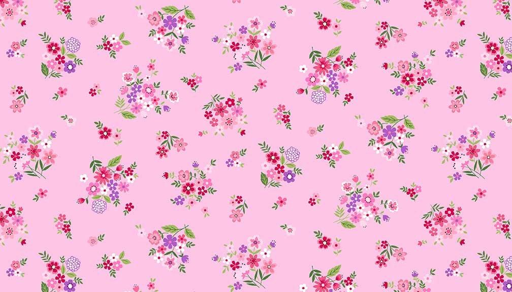 Makower - Bloom Bouquet Pink 2033/P
