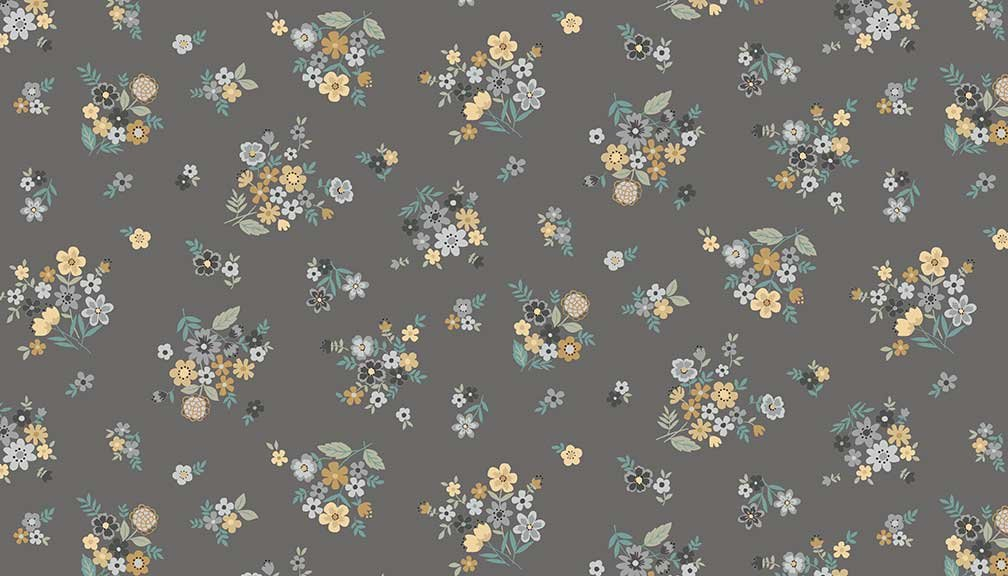Makower - Bloom Bouquet Grey 2033/S
