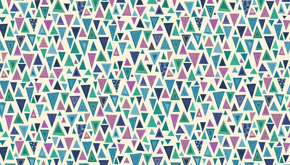 Makower - Rhapsody Triangle Blue - 2176/B