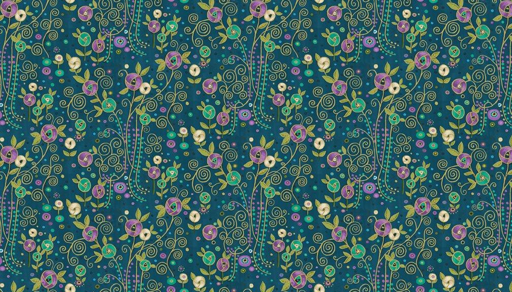 Makower - Rhapsody Flower Blue - 2178/B