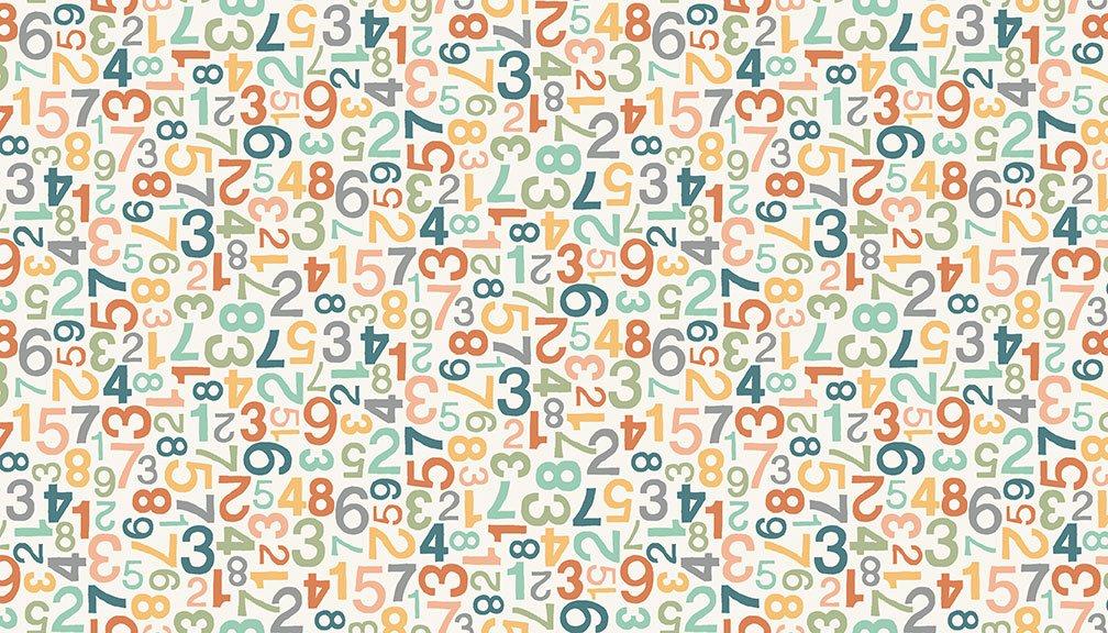 Makower - Jungle Friends Numbers  Pink - 2202/P