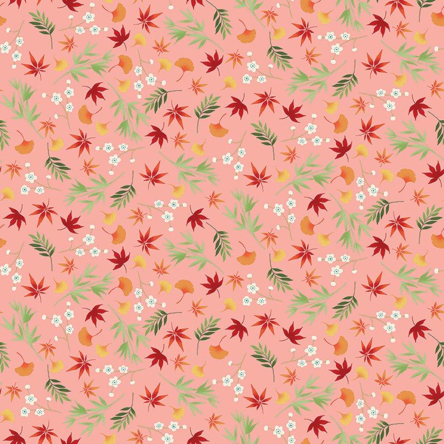 Makower - Michiko Foliage Pink 2333/P