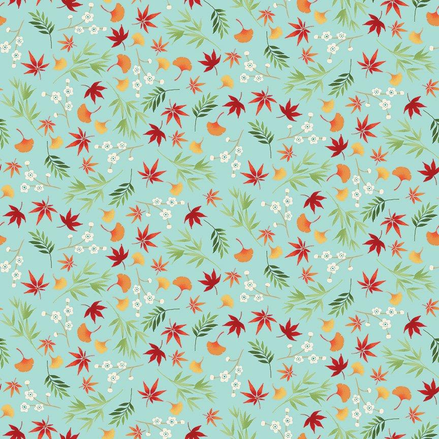Makower - Michiko Foliage Turq 2333/T