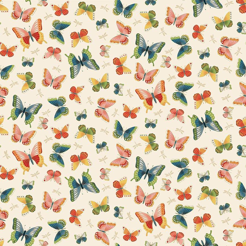 Makower - Michiko Butterflies Cream 2334/Q