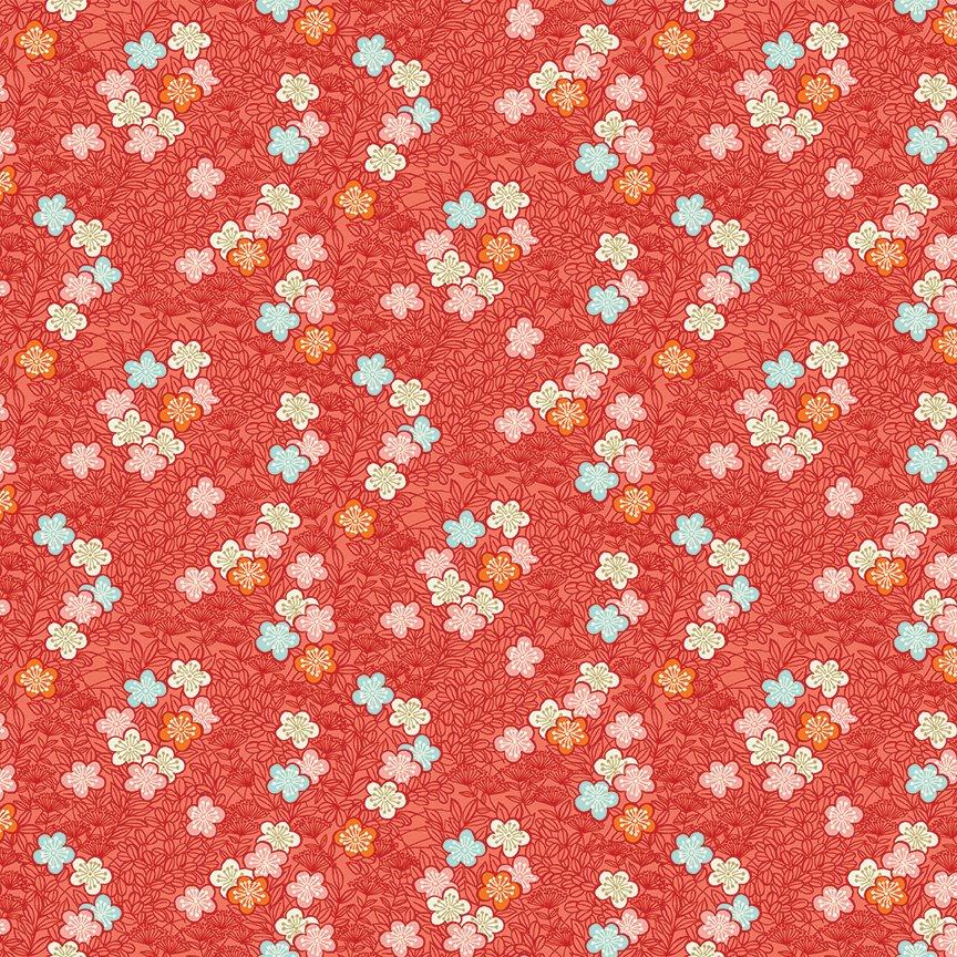 Makower - Michiko Bushclover Red 2336/R