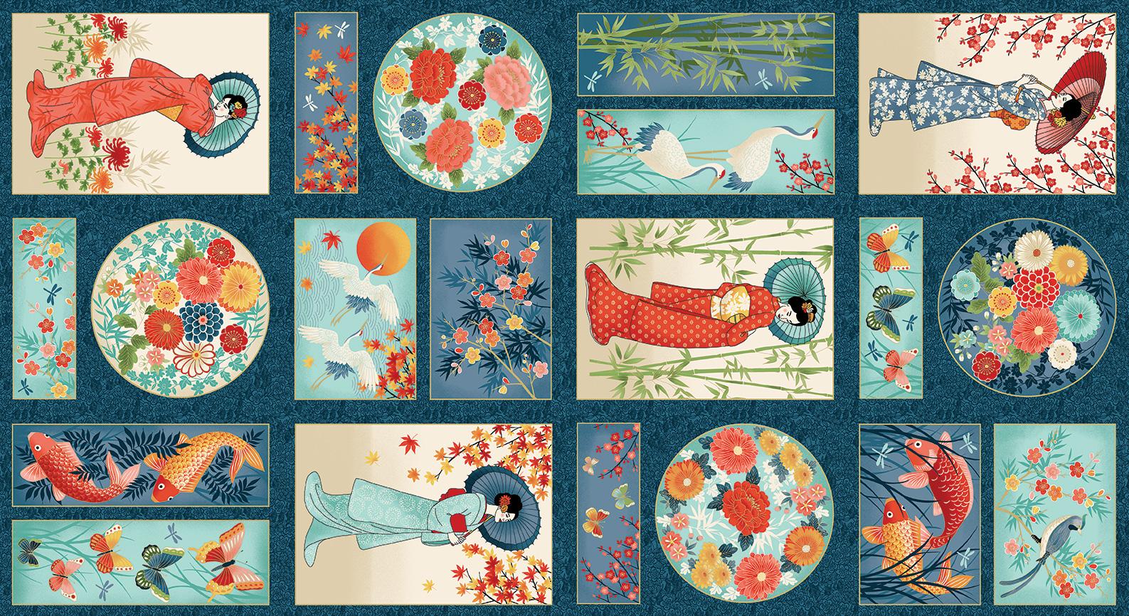 Makower Michiko - Panel 2337/1