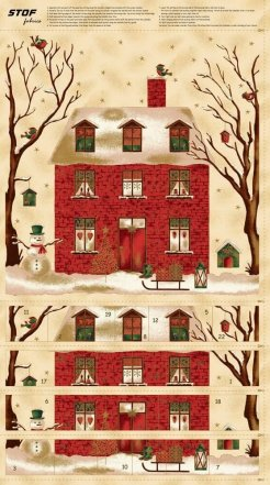Magical Moments Christmas house panel 100% cotton quilting fabric