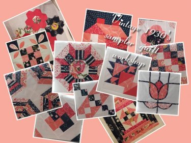 Vintage quilt workshop at The Quilt Cabin West Yorkshire