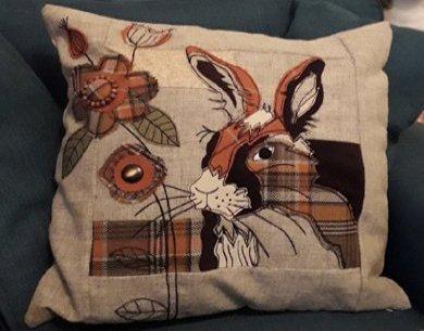 Make a rabbit cushion