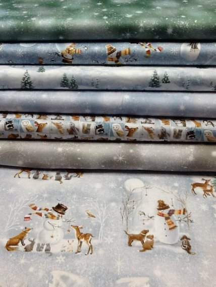 Woodland Friends 100% cotton quilting fabric