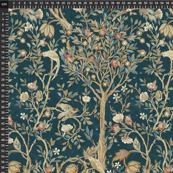 Free spirit - Orkney by Morris & Co - Melsetter Indigo PWWM041