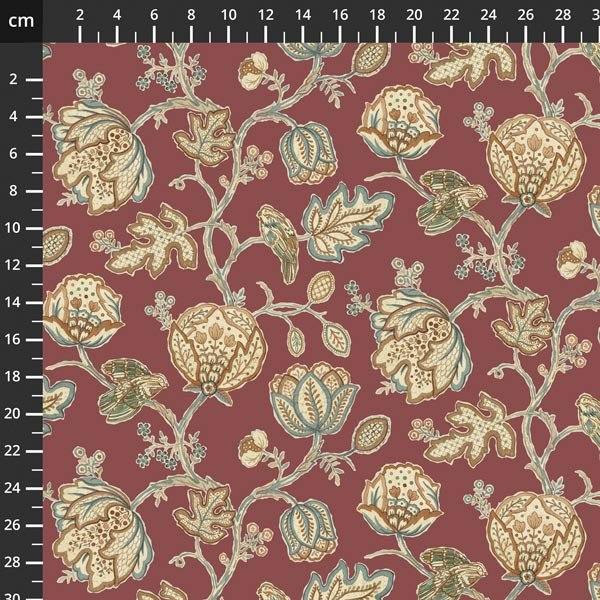 Free spirit - Orkney by Morris & Co - Theodesia Red PWWM043
