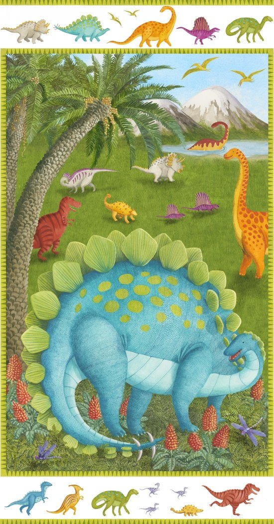 Blank Quilting - Dino Party - Panel 9050P-17