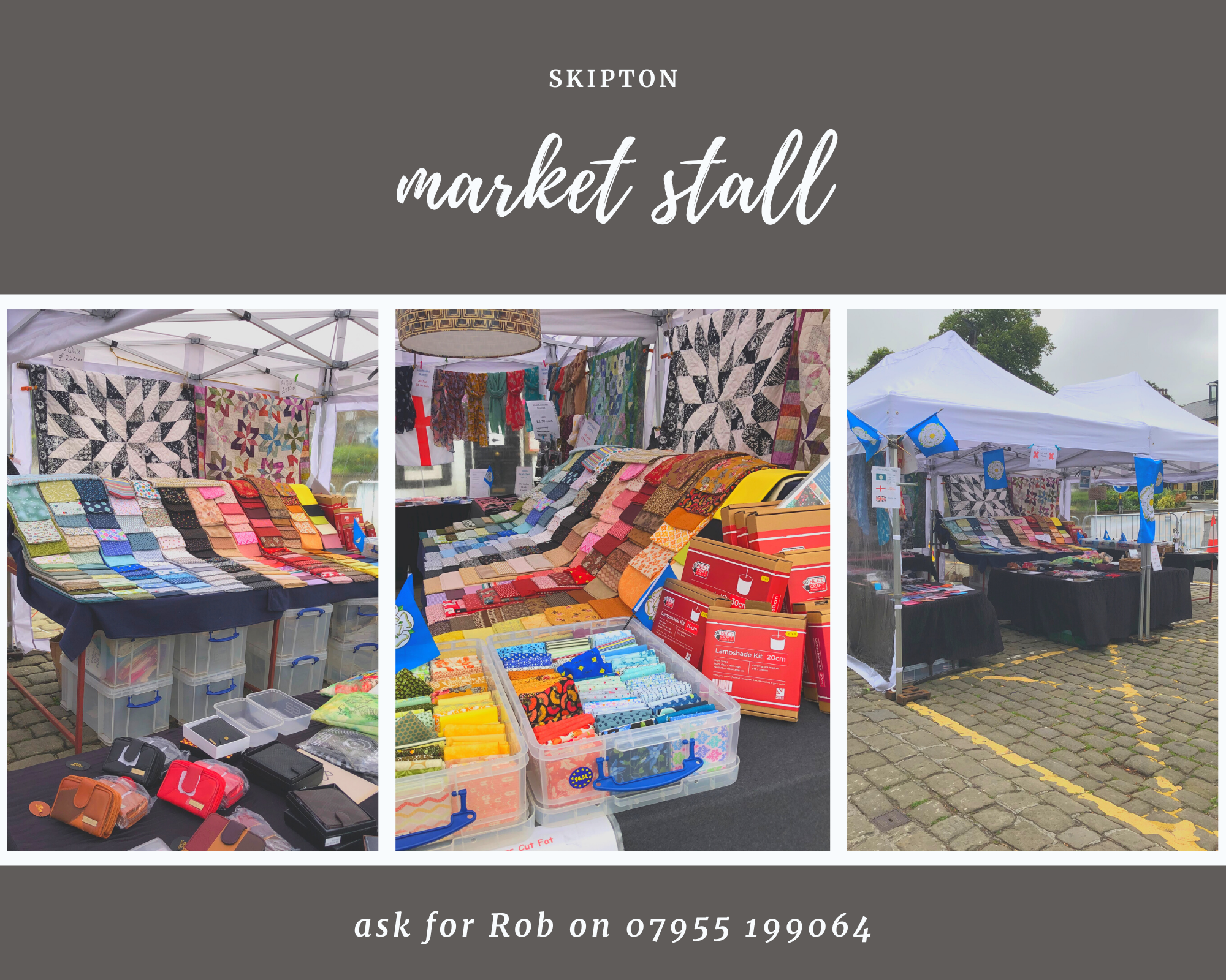 Skipton market stall in North Yorkshire